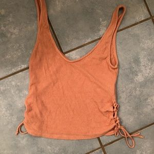 Urban Outfitters Tops - Peach Urban Outfitters lace up tank